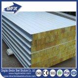 Techo de pared Aluminio Acero EPS / PU / Fibra de vidrio / Rockwool Sandwich Panel