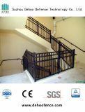 Galvanisierte schwarze überzogene Qualitäts-Treppe, die für Haus ficht