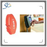Manchet van het Silicone RFID van het bedrijf de Embleem Afgedrukte voor Toegangsbeheer