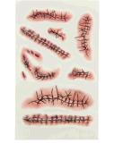 sutura de la herida de 3D Víspera de Todos los Santos que sangra la etiqueta engomada temporal impermeable del tatuaje