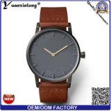 Yxl-093 de nieuwe Horloges Van uitstekende kwaliteit van het Kwarts van de Luxe van de Mode van het Horloge van het Leer van de Mensen van het Embleem OEM/ODM van de Douane van de Aankomst Charmante Promotie
