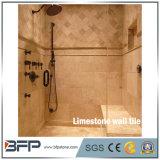 Le beige lapide la tuile de marbre de mur de salle de bains de travertin pour l'intérieur/extérieur