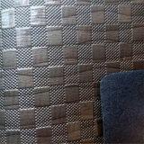 Cuoio sintetico del PVC del grano di griglia per la decorazione Hw-762 dei caricamenti del sistema dei pattini
