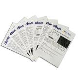 Instrucción de encargo del folleto de la impresión en offset para los productos