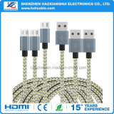 Fast Charging 2.1A Nylon Bracing Cell Phone Cable para HTC Xiaomi