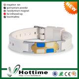 Edelstahl-Silikon-Gummiband-Armband-Großverkauf (CP-JS-ND-004)