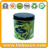 De Container van de Thee van het metaal met Ronde Vorm, de Blikken van de Thee