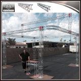 Стойка выставки 4 штендеров, алюминиевая миниая ферменная конструкция