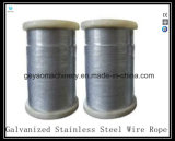cable de acero galvanizado cubierto vinilo de los Cable-Aviones 7X19