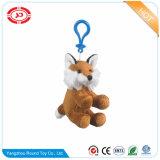 Brown bourré reposant trousseau de clés animal de peluche de jouet de Fox le beau