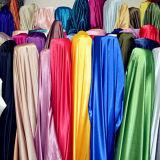 satin 100%Polyester le meilleur marché pour le tissu de vêtement de robe