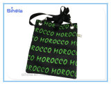 모로코 기념품 5 원색판화와 다채로운 지퍼 어깨에 매는 가방