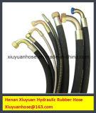 Stahldraht-umsponnener flexibler Schlauch-Hydrauliköl-Gummischlauch (SAE100R1-10)