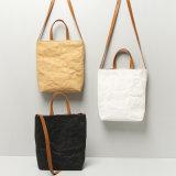 Bolsa de três sacos de ombro da lona do papel de embalagem das cores (K004)