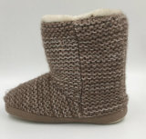 Lds Knit Slipper Boots