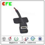 China personalizou o conetor de cabo 4pin cobrando magnético