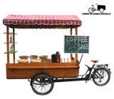 Bici caliente del cargo del café del helado de la venta con la sola bicicleta de la rueda de Trike tres del revés de la velocidad para los adultos