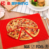 Couvre-tapis de Piza d'emplacement de BBQ de couleur rouge de couvre-tapis de traitement au four de silicones
