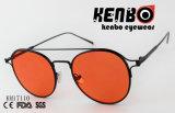 Lente redonda com os óculos de sol dobro da forma do projeto Km17110 da dobradiça