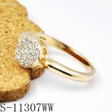 숙녀를 위한 18k 금 보석 다이아몬드 반지