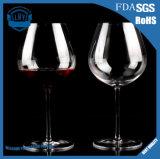 Cuvette élevée sans plomb en cristal élégante sans plomb de la meilleure qualité de vin rouge du pied 800ml