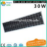 30W het geïntegreerdeo Licht van de LEIDENE ZonneSensor van de Straat met Afstandsbediening voor Tuin