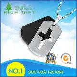 金属Name/ID/Petsのドッグタッグのための2017の習慣の昇進のネックレスのシリコーンコード