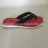 El nuevo deslizador del diseño con la sandalia de cuero de la PU Flip-Flops el deslizador