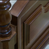 Neues modernes echtes hölzernes ledernes Bett mit festem Holz Fram für Wohnzimmer-Möbel As818