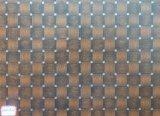 Bruine Vierkante MDF van het Gezicht van Tegels, kleurt Nr.: 217, Grootte 120X2440mm, Dikte: als Uw Orde, Lijm: E0, het Bruine Vierkante Document MDF, MDF van Tegels van de Melamine