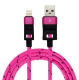Reines Kupfer umsponnenes USB-Daten-Aufladeeinheits-Energien-Kabel für iPhone
