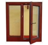 Heiße Verkaufs-Doppelt-Farben-materielles Aluminiumflügelfenster-Aluminiumfenster