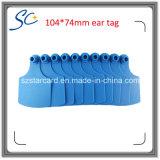 Modifica di orecchio della mucca di 74mm x di 104 per la gestione animale