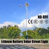 Luz de calle solar certificada Ce de RoHS con los 6m poste ligero