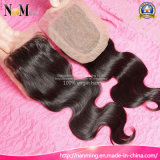 Chiusura brasiliana del merletto dei capelli della chiusura bassa di seta libera della parte di modo della parte 3part dei capelli di Facebeauty