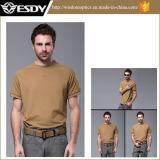キャンプする3colors Esdyの通気性の速乾燥熱い戦術的な戦闘のTシャツをハイキングする
