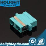 Aqua con varios modos de funcionamiento a dos caras óptico Om3 del Sc del adaptador de fibra