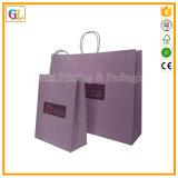 Изготовленный на заказ бумажный мешок подарка покупкы с оптовой продажей печати логоса