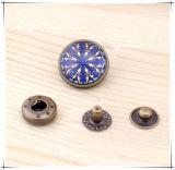 DIY 부속품 18mm 둥근 금속 스냅 단추 기술 단추