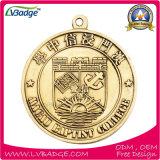 Изготовленный на заказ медаль спорта металла с талрепом сублимации