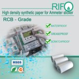La superficie trató el papel sintetizado de alta densidad para las escrituras de la etiqueta de las etiquetas engomadas del amperímetro