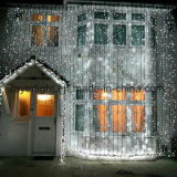 De LEIDENE Lichte OpenluchtDecoratie van het Gordijn/de Decoratie van Kerstmis