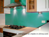 O teste padrão da cor imprimiu o vidro do encosto do respingo da parede da cozinha