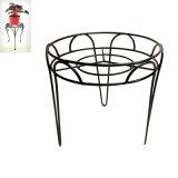 Metallgarten-Dekoration-einzelne Stuhlflowerpot-Standplatz-Fertigkeit
