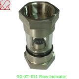Indicador tubular del flujo del vidrio de vista del acero inoxidable para el líquido