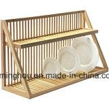 Progettare l'interiore per il cliente di legno della casa del supporto della cremagliera di piatto della cremagliera del disco della cucina
