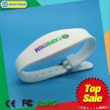 WS-02は頻度LF TK4100およびFM08防水RFIDのシリコーンのブレスレット二倍になる