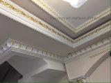 Decoração interior do poliuretano branco da cor que molda para o teto