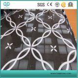 Белая мраморный плитка мозаики картины, мраморный картина, водоструйный мрамор