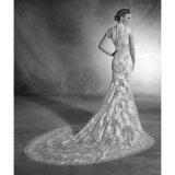 Vestido de casamento elevado do laço de Cheongsam do Neckline 2017 (Dream-100065)
